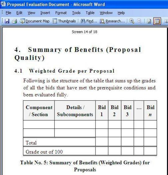 proposal evaluation template