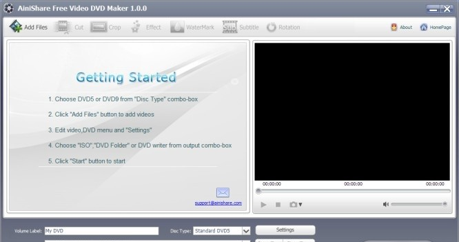 Ainishare Free Video DVD Maker