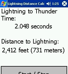 Lightning Distance Calculator lightning