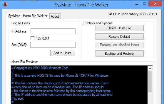 SysMate – Host File Walker