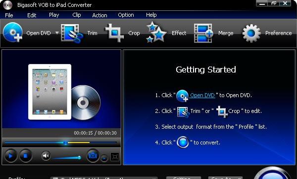 Bigasoft VOB to iPad Converter