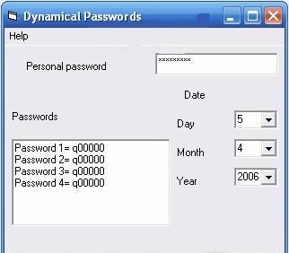 Dynamic Passwords for Windows