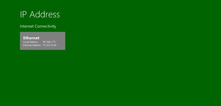 Jujuba IP Address for Windows 8