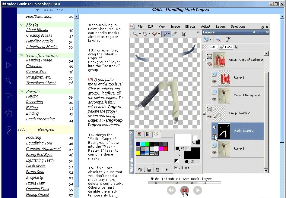 Video Guide to Paint Shop Pro X jasc paint shop pro 7