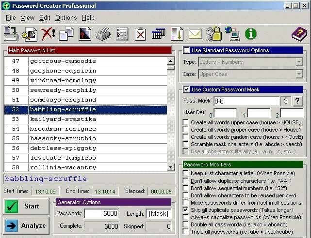 Password Creator Professional passwords com