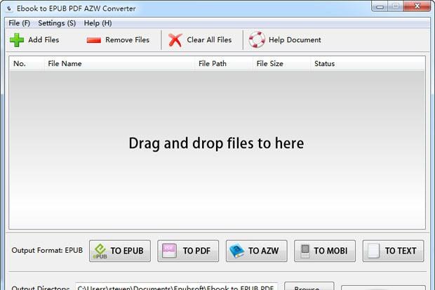 Ebook to EPUB PDF AZW Converter