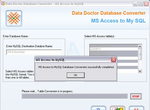 MS Access to MySQL Db Converter