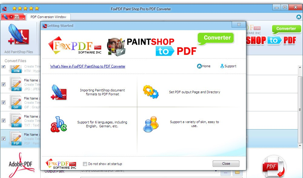 Paint Shop Pro to PDF Converter