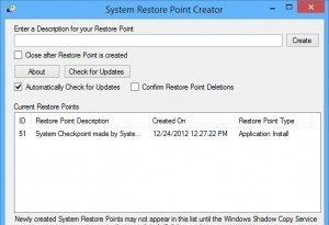 Restore Point Creator Portable