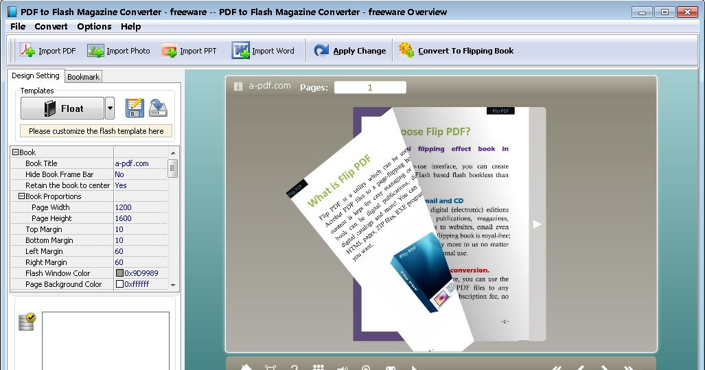 PDF to Flash Magazine Converter