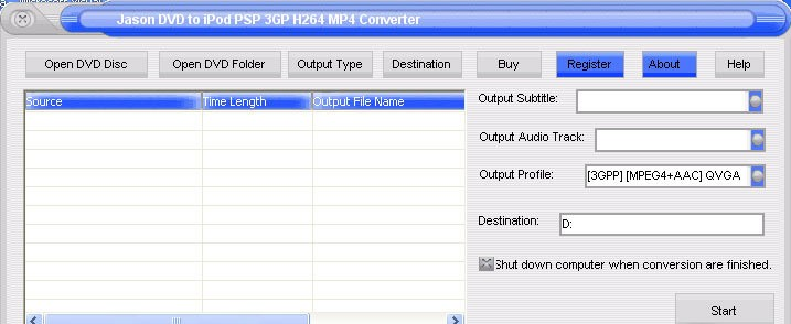 Jason DVD Video to MP4 Converter - Jasonsoft DVD to iPod PSP 3GP PPC MP4