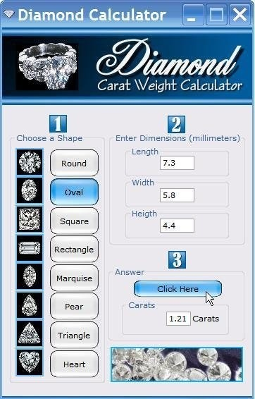 Diamond Carat Weight Calculator