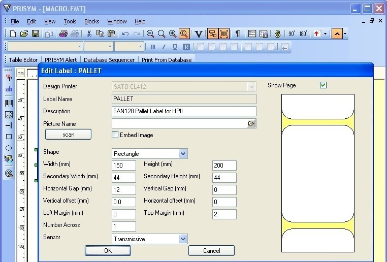 Prisym Design Labeling Software