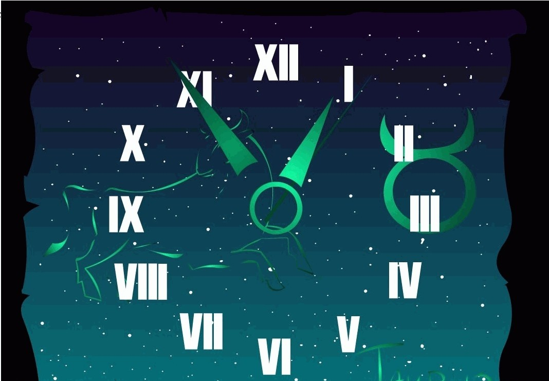 Taurus Zodiac Clock ScreenSaver free old clock screensaver