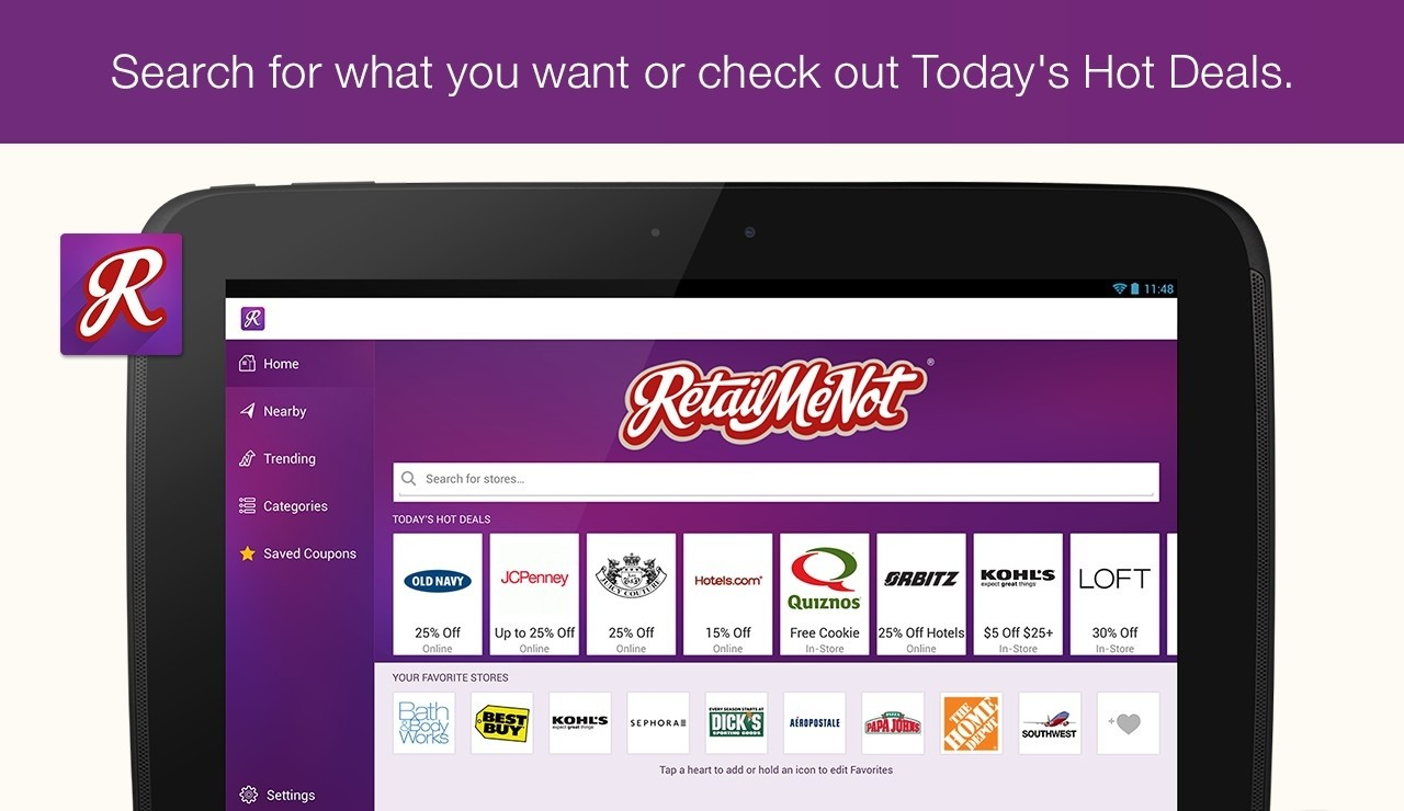 RetailMeNot Coupons for Android