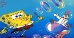 Blowing Bubbles in Bikini Bottom spongebob