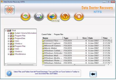 NTFS Partition Salvage Software restoration
