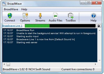 BroadWave Streaming Audio Server
