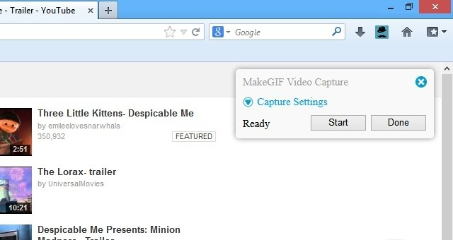 MakeGIF Video Capture for Firefox