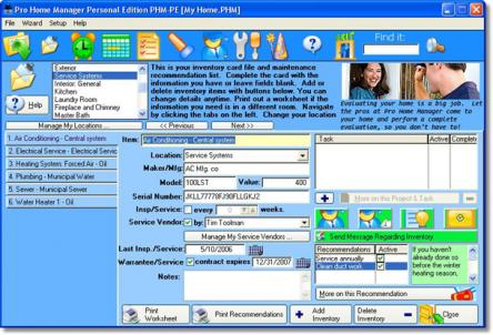 Pro Home Manager Personal Edition - Pro Home Manager creates home maintenance schedule yuvutu home videos