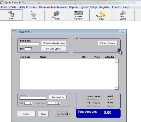 Retail Software POS Professional