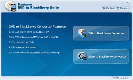 Daniusoft DVD to BlackBerry Suite