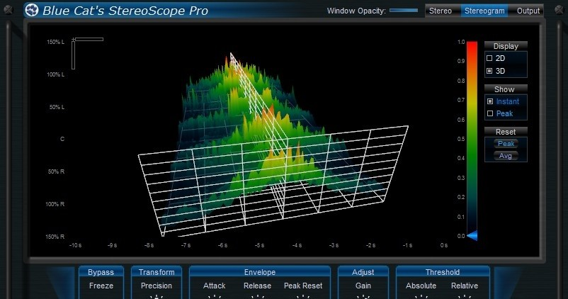 Blue Cats StereoScope Pro for VST - Blue Cat`s StereoScope Pro is a real time stereo field analyzer.