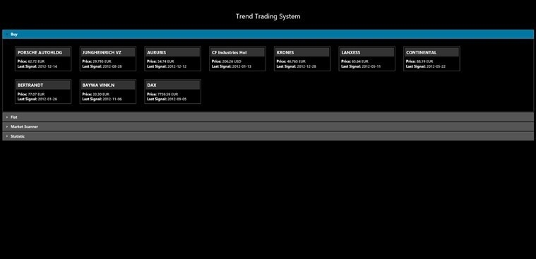 Trend Trading System for Windows 8