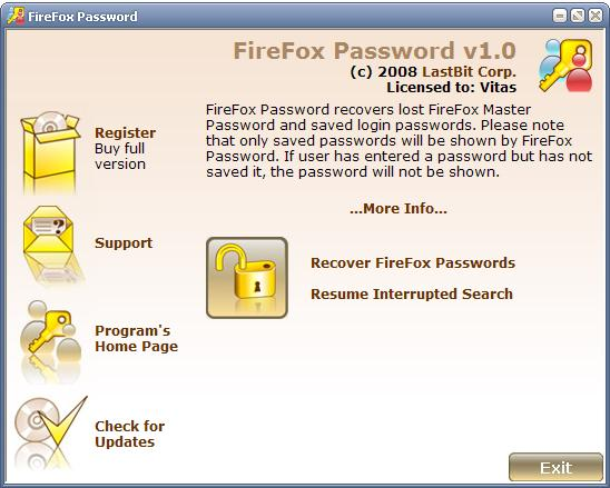 LastBit FireFox Password Recovery alexroot4 imgsrc password