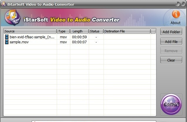 iStarSoft Video to Audio Converter