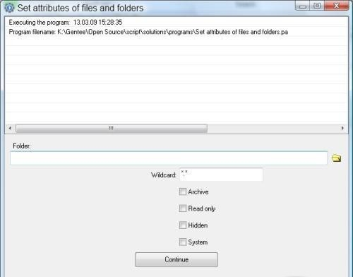 Set Attributes of Files and Folders