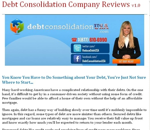 Debt Consolidation Company Reviews