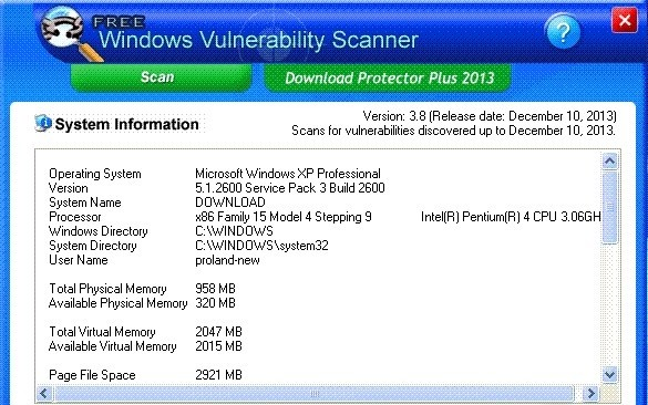 Free Windows Vulnerability Scanner