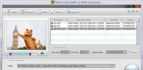 WinX Free MP4 to PSP Video Converter - Free MP4 to PSP video converter to play MP4 video on all types of PSP free gay tube video