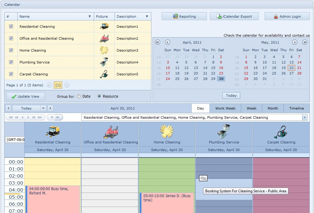 Booking System For Cleaning Service