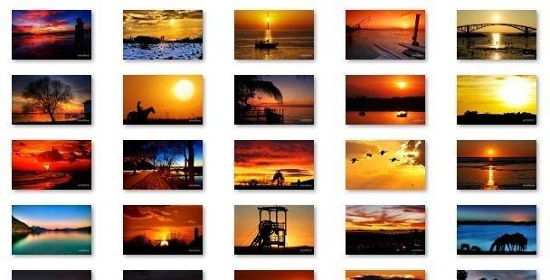 Mesmerizing Sunsets Windows 7 Theme windows xp theme