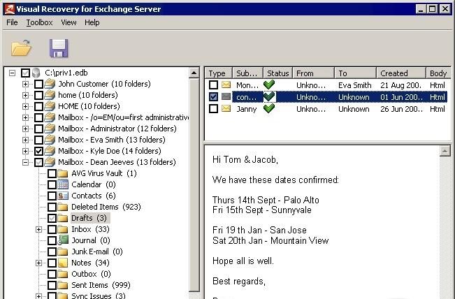 FQDN Exchange Server - FQDN сервера роли MailBox, на котором Objective Shor