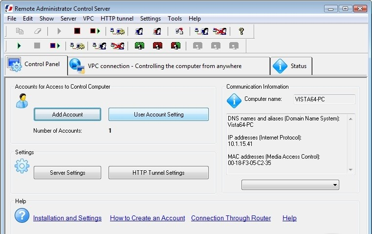Скачать Remote Administrator Control Server программное обеспечение, Remote