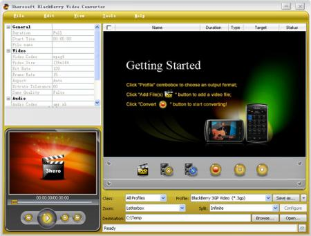 3herosoft BlackBerry Video Converter - Convert video to AVI