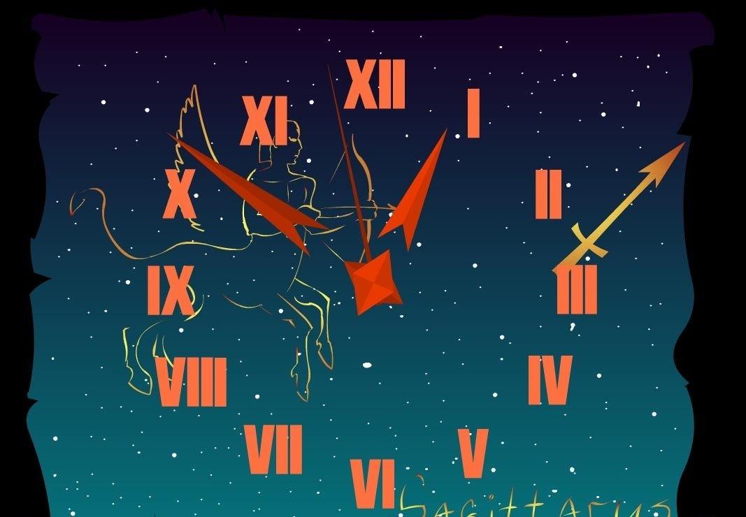 Sagittarius Zodiac Clock Screensaver