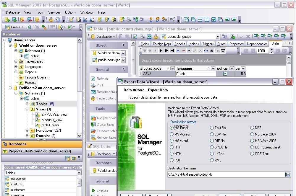 EMS SQL Manager for PostgreSQL - это высокопроизводительная программа для р