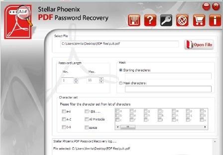 Stellar Phoenix PDF Password Recovery alexroot4 imgsrc password