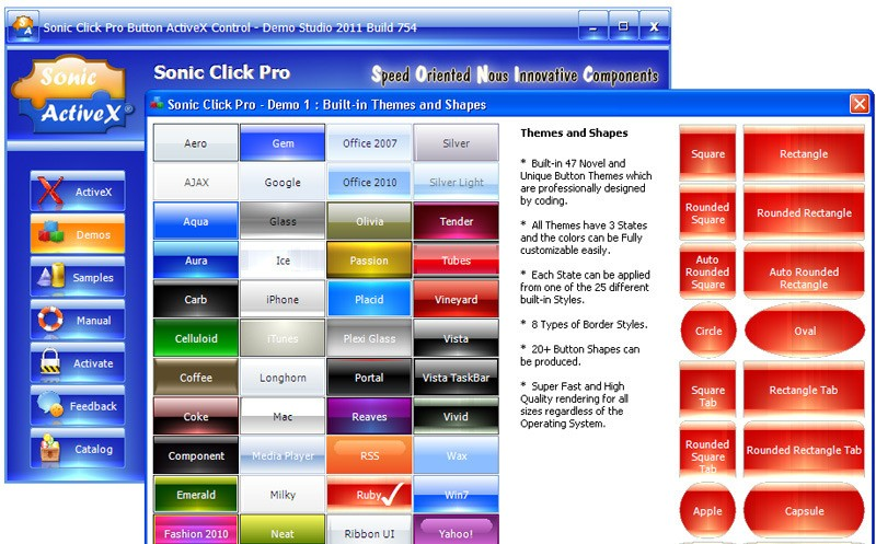Sonic Click Pro Button ActiveX Control
