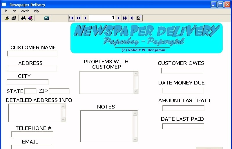 Newspaper Delivery Paperboy Papergirl newspaper route software