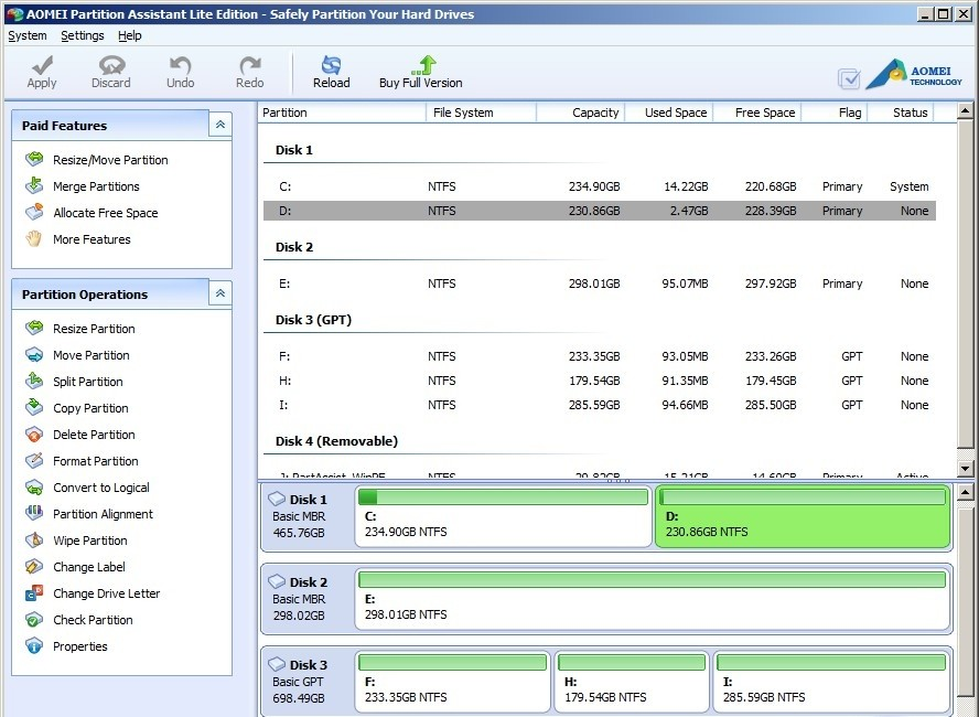 AOMEI Partition Assistant Lite Edition