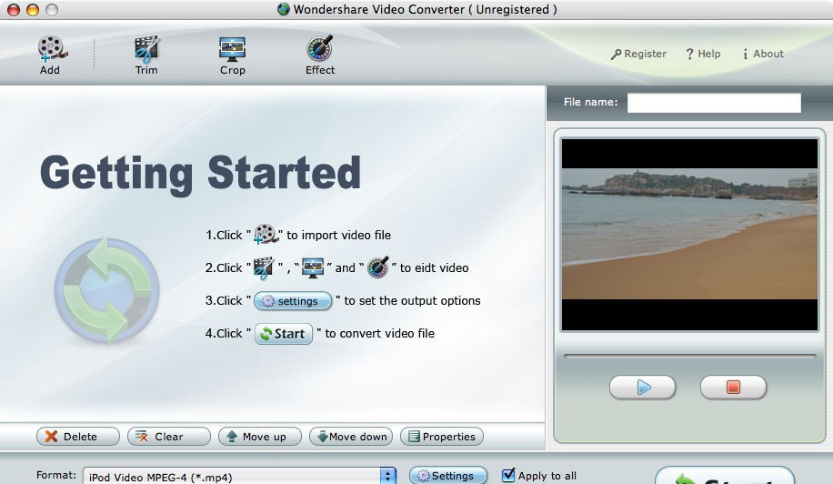 Wondershare DVD to BlackBerry Suite Mac