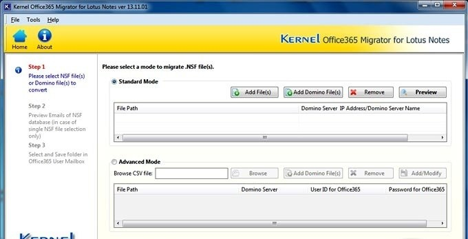 Kernel Office 365 Migrator for Lotus Note