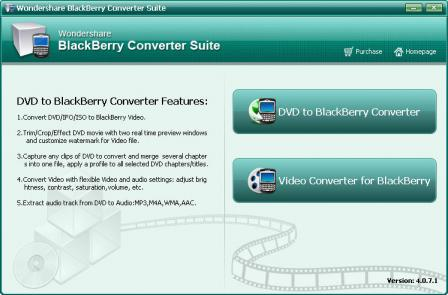 Wondershare Blackberry Converter Suite