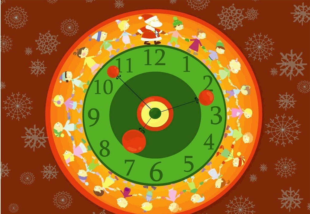 Christmas walk-around Clock screensaver free old clock screensaver