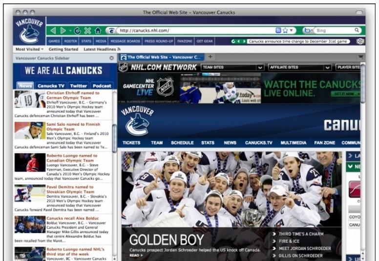 Скачать программу NHL Vancouver Canucks IE Browser Theme, 1.5.
